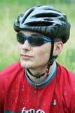 Corridore della bici di montagna Fotografia Stock