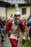 Corridore della traccia sul Monte Bianco Fotografia Stock Libera da Diritti