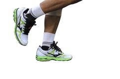 Corridore delle gambe Immagini Stock