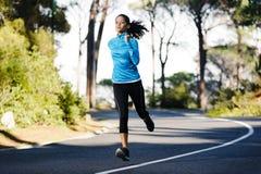 Corridore di addestramento di maratona Immagine Stock