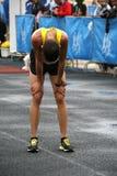 Corridore di maratona Immagini Stock Libere da Diritti