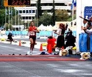 Corridore di maratona Theodorakakos Dimitrios della Grecia Immagine Stock Libera da Diritti