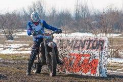 Corridore di motocross Fotografie Stock Libere da Diritti