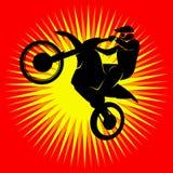 Corridore di motocross Fotografia Stock