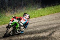Corridore di Motorcylce Fotografie Stock