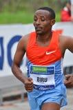 Vincitore maschio maratona della città 2013 di Milano fotografia stock libera da diritti