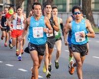 Corridore maratona Fotografia Stock