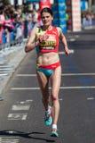 Corridore maratona della donna Immagine Stock