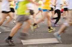 Corridore maratona internazionale di Canton Fotografie Stock