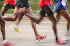 Corridore maratona internazionale di Canton Fotografia Stock