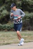 Corridore maratona maschio senior Fotografie Stock