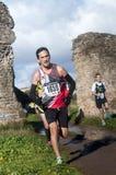 Corridore serio nella maratona dell'epifania, Roma, Italia Fotografia Stock Libera da Diritti