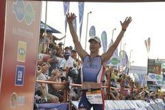 Corridore sudafricano di Ironman Fotografie Stock Libere da Diritti