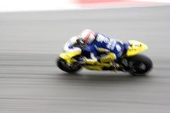 Corridore veloce del motociclo sulla pista Fotografia Stock Libera da Diritti