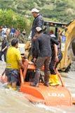 corridori 4X4 attraverso fango nell'Ecuador Immagini Stock Libere da Diritti