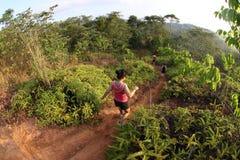 Corridori della traccia di maratona Fotografie Stock