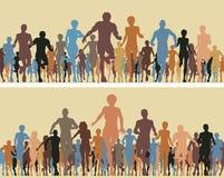 Corridori di colore illustrazione vettoriale
