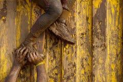 Corridori di corsa del fango Immagini Stock Libere da Diritti