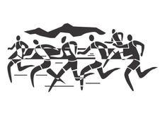 Corridori di maratona Immagini Stock