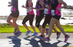 Corridori di maratona Immagine Stock