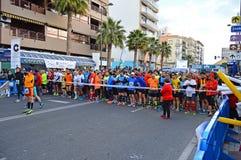 Corridori di maratona Fotografie Stock
