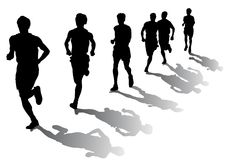 Corridori di maratona Fotografia Stock