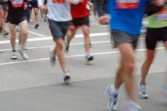 Corridori di maratona del Chicago Fotografia Stock