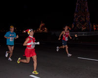 Corridori di maratona di Honolulu Immagine Stock Libera da Diritti