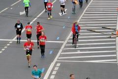 Corridori maratona di Mosca Immagine Stock