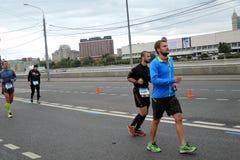 Corridori maratona di Mosca Immagine Stock Libera da Diritti