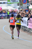 Corridori 2013 delle donne di maratona della città di Milano fotografia stock