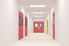Corridors. For Clean room pharmaceutical plant Royalty Free Stock Photo