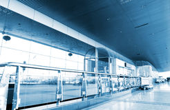 The corridors of the airport terminal royalty free stock photos