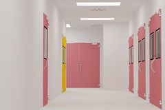 Corridors clean room. Corridors For Clean room pharmaceutical plant Royalty Free Stock Photos