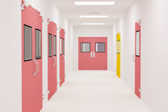 Corridors. For Clean room pharmaceutical plant Stock Photography