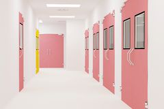 Corridors clean room. Corridors For Clean room pharmaceutical plant Royalty Free Stock Image