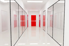 Corridors. Emergency exit For Clean room pharmaceutical plant Royalty Free Stock Photography