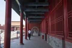 Corridors  in The forbidden city Royalty Free Stock Photo