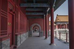Corridors  in The forbidden city Royalty Free Stock Photos