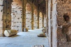 Corridors inside the Coliseum royalty free stock image