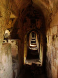Corridors of Krak des Chevaliers, Syria Royalty Free Stock Images