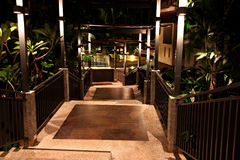 Corridors at night in resort. Stock Photography