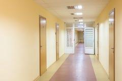 Corridors, offices, doors stock photography