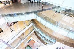 Corridors in shoppingmall Royalty Free Stock Image