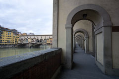 Corridors in Vecchio Bridge Royalty Free Stock Images