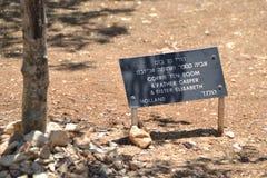 Corrie Ten Boom - som är rättfärdig bland nationerna, arbeta i trädgården på förintelsen Shoa minnes- Yad Vashem i Jerusalem, Isr royaltyfria foton