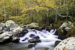 Corriente ahumada de la caída de la montaña Imagen de archivo