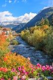 Corriente alpina italiana Imagen de archivo libre de regalías