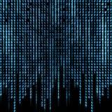 Corriente binaria azul en la pantalla Imagen de archivo libre de regalías