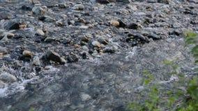 Corriente clara del primer sobre roca metrajes